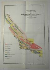 California Coast Geological Survey San Francisco Los Angeles c.1856 Antisell map