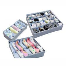 3pzas Cajón Divisor armario ropa interior Calcetines Sujetador Organizador