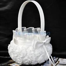Streukörbchen Blumenkinder weiß Blumenkörbchen Hochzeit Blumen streuen