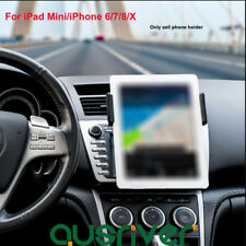 Universal Car Mount Phone Holder with 2-Clip Combination for iPhone/iPad Mini