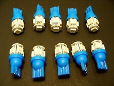 10x Blue GM Mega Bright 12V LED 194 T10 Wedge Instrument Panel Light Bulbs Lamps
