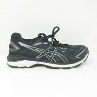 Asics Mens GT 2000 7 1011A158 Black White Running Shoes Lace Up Low Top Size 8