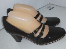 Simply Vera Wang Celebrate Brown Patent Mary Jane Heels Pumps Shoes Size 8.5 M