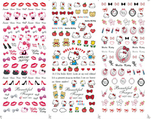 Nail Art Stickers Transfers Decals HOT Series Hello Kitty  091-093