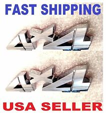 2X Chrome 4 X 4 EMBLEM 3D CHEVROLET 4X4 ornament TRUCK badge SUV logo DECAL sv