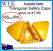 Wholesale Yellow Plastic Star Picket Post Caps,Yellow Post Caps,100pc/PK-67199