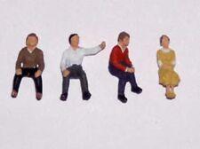 OO/HO gauge Painted sitting people - P&D Marsh PDZ03 free post F1