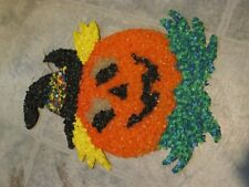 Vintage Melted Popcorn Halloween Pumpkin Jack O Lantern