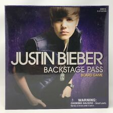 Justin Bieber Backstage Pass Board Game - New
