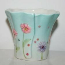 YANKEE CANDLE Votive or Tealight HOLDER * FLOWERS * LOVELY * CERAMIC