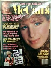 CA 15 Barbra Streisand  McCall's Magazine Jan 1984 NO SHIPPING LABEL Excellent