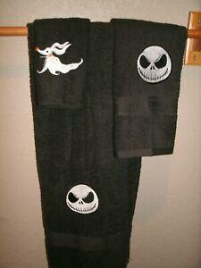 Nightmare Before Christmas Jack Skull Personalized 3 Piece Bath Towel Set
