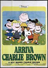 ARRIVA CHARLIE BROWN MANIFESTO CINEMA SHULZ PEANUTS SNOOPY LINUS MOVIE POSTER 4F