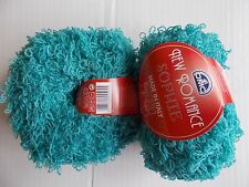 DMC New Romance Sophie wool blend loopy yarn, turquoise, lot of 2 (44 yds each)