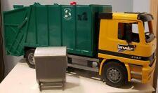 Bruder Mercedes Benz Garbage Truck -Actros 4143 - w/Bin-Used Excellent Condition