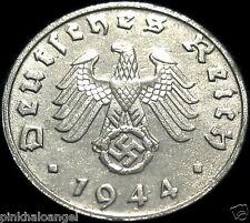 Germany - German 1944B Reichspfennig Coin - Rare 3rd Reich WW 2 Coin