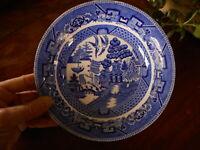 "Buffalo Pottery Blue Willow Bowl 7.5"" Low Bowl Semi Vitreous 1 Dessert Pie ?"