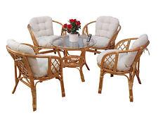 Rattansitzgruppe 9-tlg. Sitzgruppe Tisch Sessel Essgruppe Stühle Gruppe Rattan