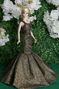 Gown Outfit Dress  new for   barbie model  silk stone by t.d.fashion