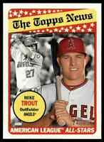 2018 TOPPS HERITAGE MIKE TROUT CALIFORNIA ANGELS #47