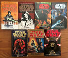 Lot of 7 Star Wars Paperback Books, Zahn, Fate of Jedi, Legacy Force