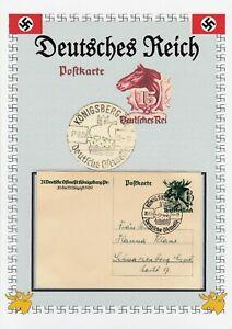 ALLEMAGNE GERMANY  DEUTSCHES REICH  -   Postekarte  premier jour 20/21.8.39