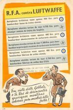 RFA contra LUFTWAFFE Hitler Göbbels Nazi WWII Comic Vintage Propaganda Postcard