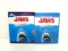 Jaws (Blu-ray, DVD, 2012) w/ OOP Rare 100th Anniversary Slipcover. Spielberg