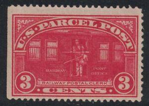 Scott Q3- MNH, Crease- 3c Railway Post, Parcel post Stamp- 1912-13 Back of Book