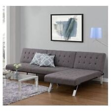 Sectional Sofa With Recliner Sleeper Futon Chaise Lounge Home Small Living Room
