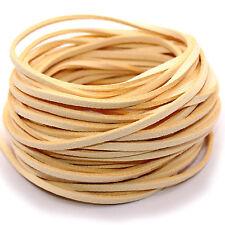 5yd Beige Suede Leather String Jewelry Making Bracelet DIY Thread Cord