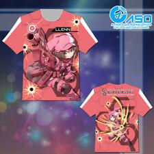 Summer Anime T shirt SAO Gun Gale Online Llenn Unisex Short Casual Tee Tops Gift
