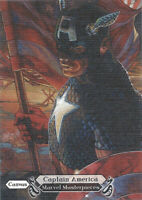 2018 Upper Deck Marvel Masterpieces Canvas #92 Captain America