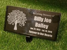 Memorial Headstone 6x12 Human grave marker plaque Temporary Tree Planting 2