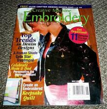 Creative Machine Embroidery Magazine May / June 2008 Top trends in Denim & more