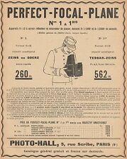 Y9661 Photo-Hall - PERFECT-FOCAL-PLANE - Pubblicità d'epoca - 1907 Old advert