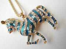 Betsey Johnson Rhinestone zebra Pendant Necklace #R75
