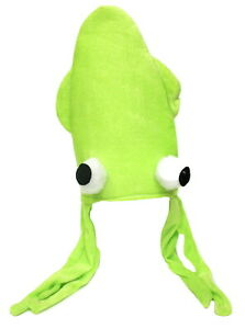 Green Squid Hat Costume Silly Fun Party Animal Ocean Gift Octopus Novelty