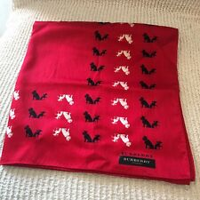 NEW Burberry London Red HANDKERCHIEF SCARF TWILLY WRAP