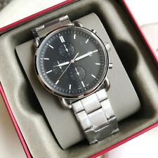 Fossil Watch * FS5399 The Commuter Chrono Black Dial Silver Steel COD PayPal