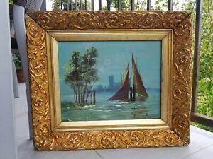 Tableau marine huile sur toile signé