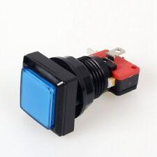 33mm LED Lampe Bouton poussoir MicroSwitch pour Arcade Jeu Vidéo Bleu 12V BA