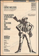 QUACKSER FORTUNE HAS A COUSIN IN THE BRONX__Original 1969 Trade AD___GENE WILDER