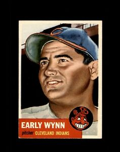 1953 TOPPS #61 EARLY WYNN INDIANS EX-MT+ to NM
