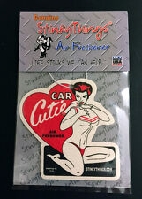 PIN UP BIKINI GIRL MODEL CAR AIR FRESHENER * BLACK ICE * rat rod hot rockabilly