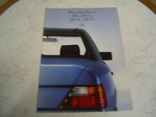 Catalogue publicitaire Mercedes Benz 200 230 E 260 300 1986 34 Pages