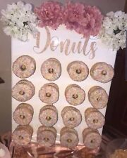 Donut Wall Sticker Decal Sign Baby Shower Accessory Rose Gold