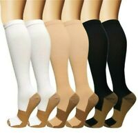 Copper Compression Socks 15-20 mmHg Graduated Support Stockings Running Athletic
