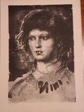 """Pietro Annigoni, litografia """"volto di donna"""" cm. 50×70"""