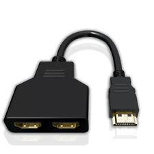 HDMI Maschio a Doppio Femmina 1 in 2 Out Y Adattatore Splitter Cavo 4k per HDTV